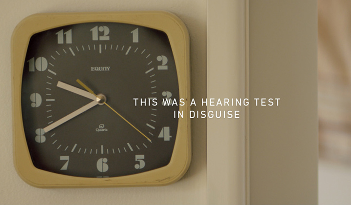 A Hearing Test Disguised in a Film