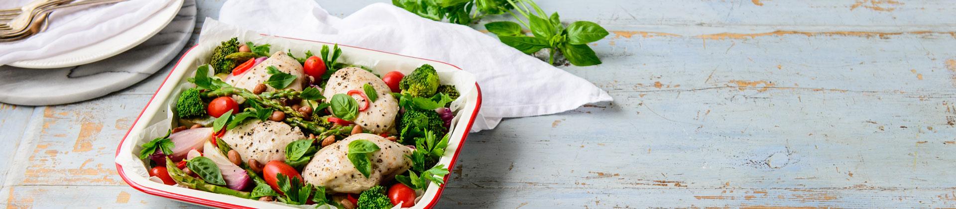 Mediterranean Baked Chicken & Vegies