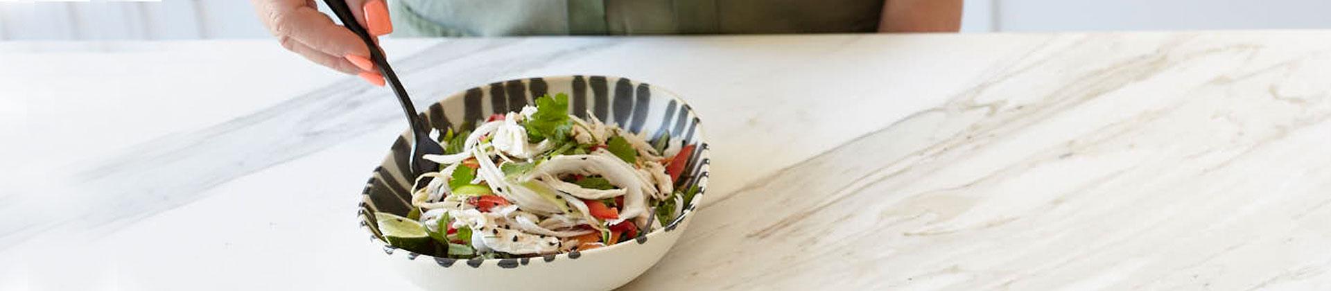 Papaya Coconut Chicken Salad